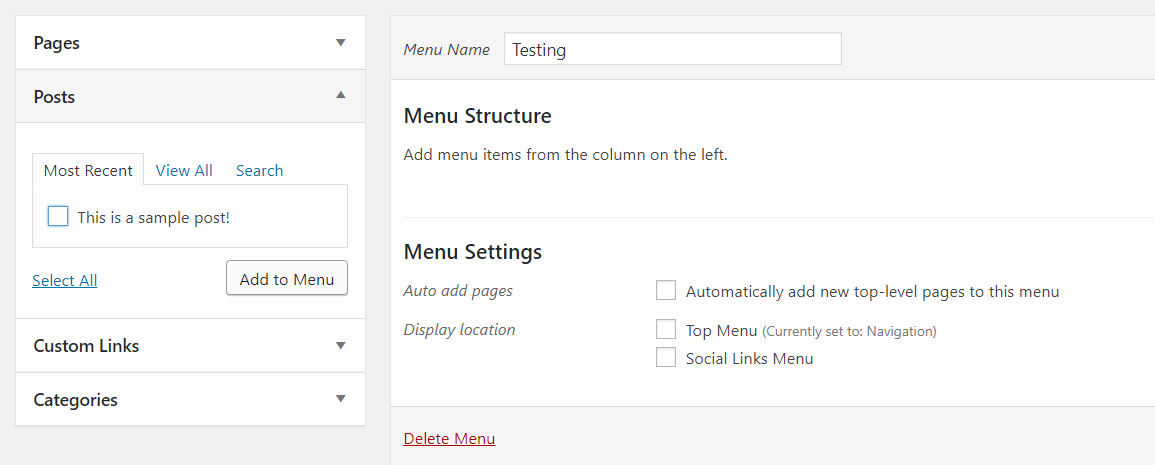 How to add content to your menu in WordPress.